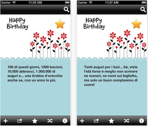 Estremamente Messaggi di Buon Compleanno la nuova app per i vostri auguri su iPhone JV13