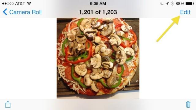 modificare foto su iOS 7