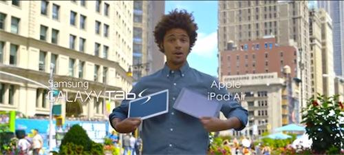 iPad Air vs Samsung Galaxy Tab S, la sfida in un nuova pubblicità