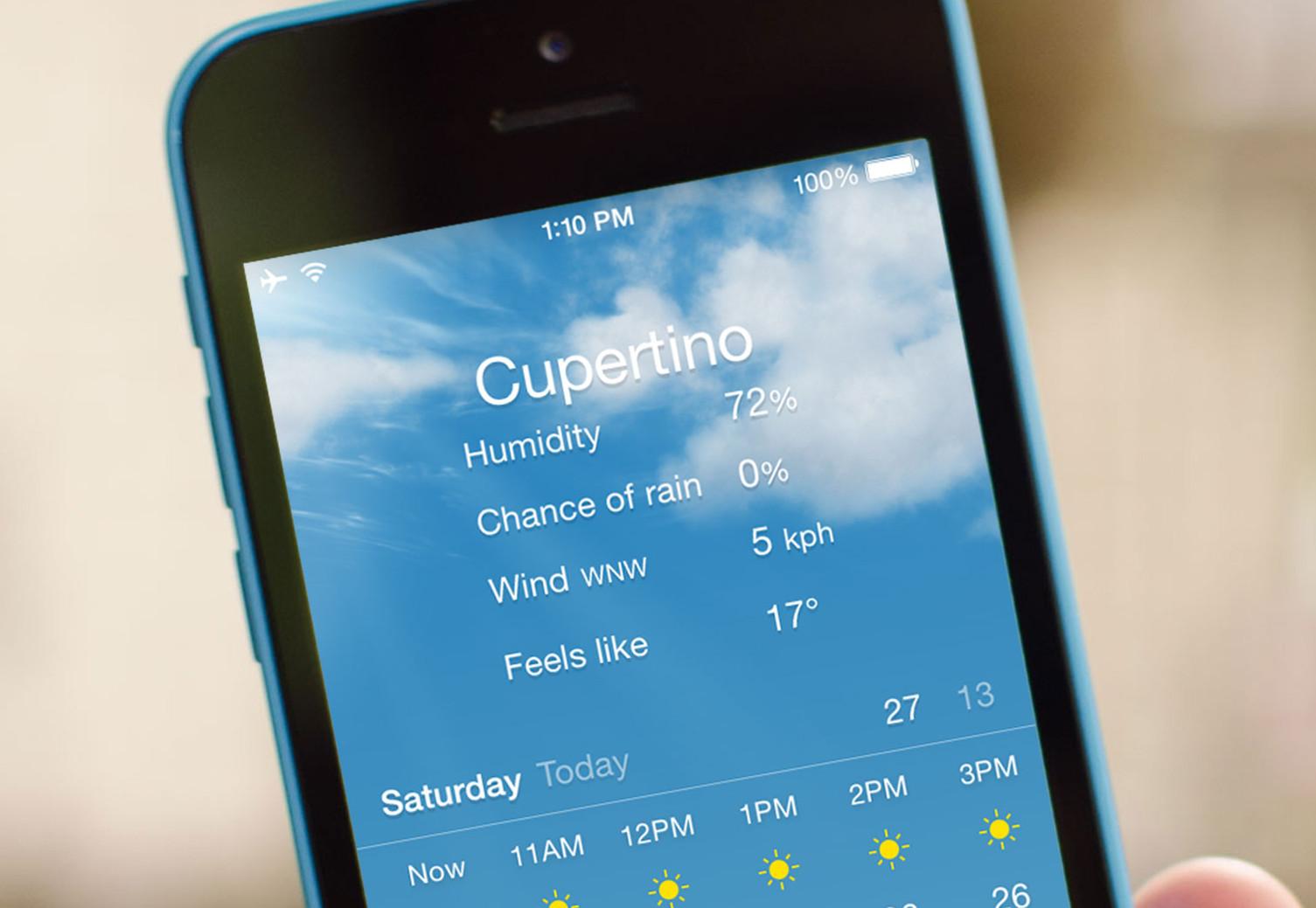 Come avere l'umidità, possibilità di pioggia, vento, e più informazioni dal Meteo per iPhone