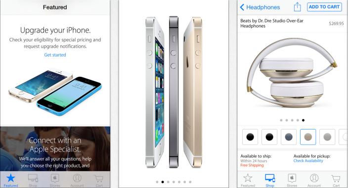 Apple Store app si aggiorna con nuova grafica, workshop ed eventi e shopping sincronizzato