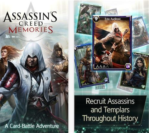Assassin's Creed Memories il nuovo card game di Ubisoft arriva su App Store
