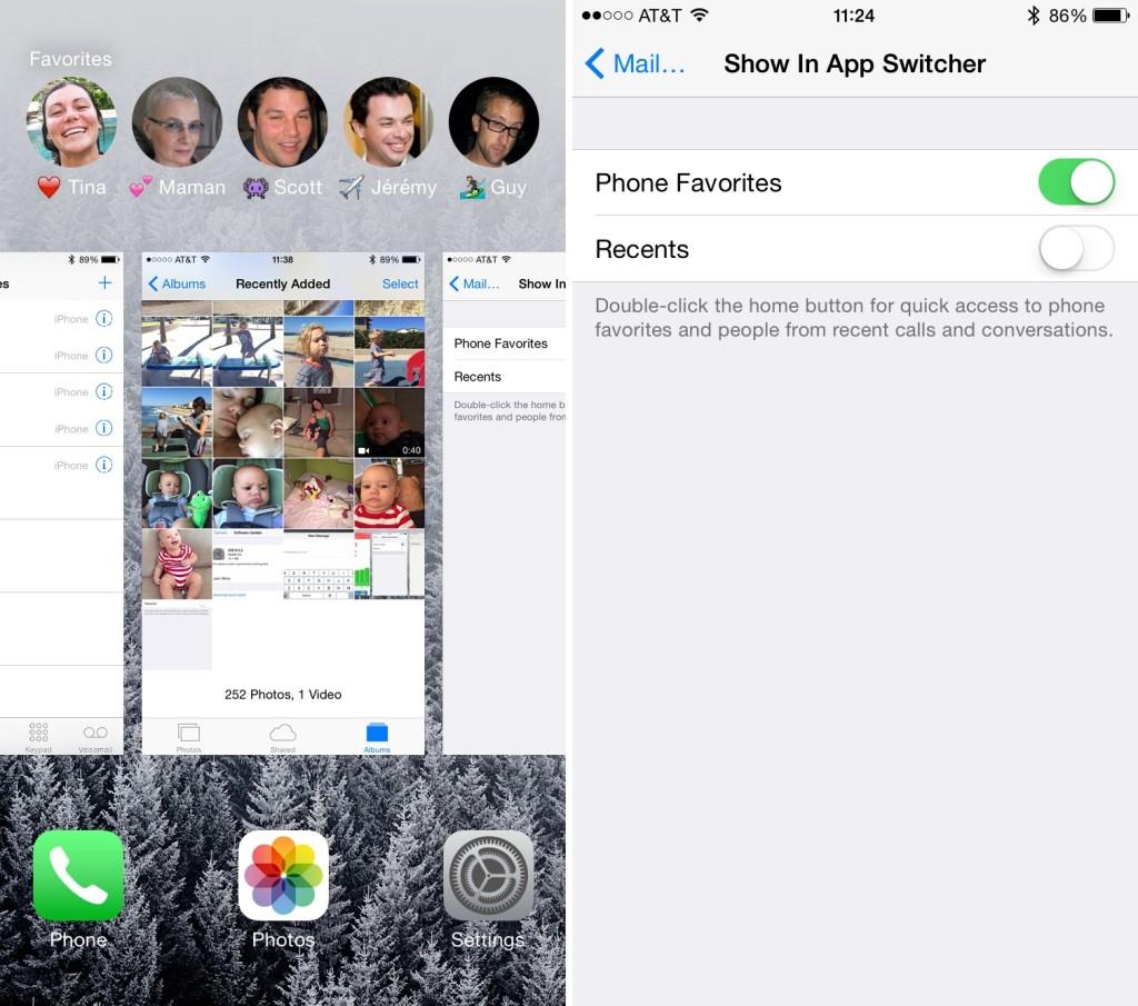 Come personalizzare o nascondere i contatti nell'App Switcher