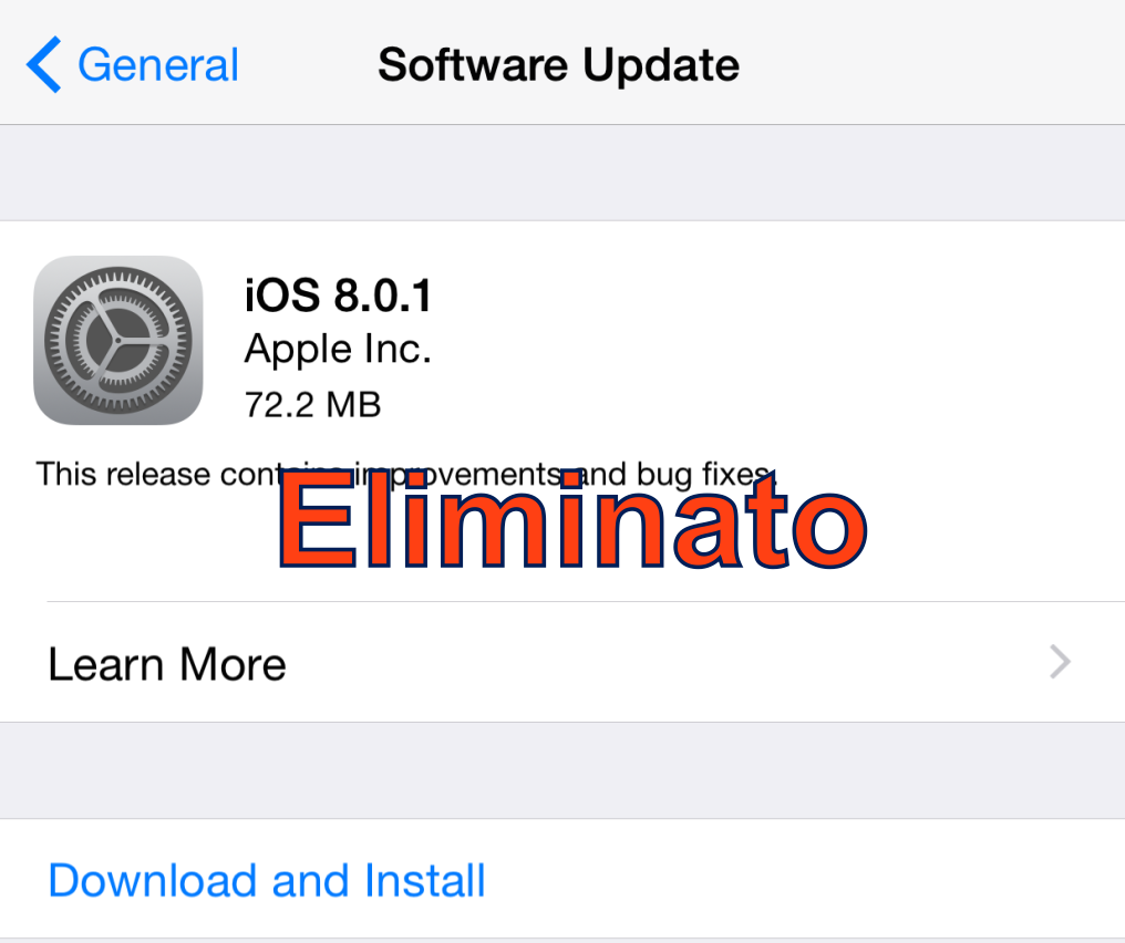 Apple ritira l'aggiornamento iOS 8.0.1 per problemi su iPhone 6 e iPhone 6 Plus