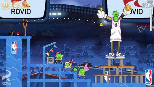 Angry Birds Seasons si aggiorna col tema NBA