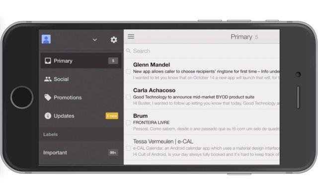 Gmail per iOS si aggiorna con la compatibilità con iPhone 6 e iPhone 6 Plus