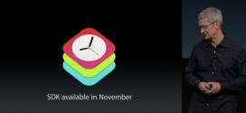WatchKit SDK per Apple Watch arriverà in novembre
