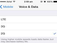 Come passare alla connessione 2G, 3G o LTE su iPhone