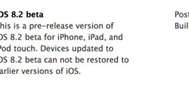 Apple rilascia iOS 8.2 beta per iPhone, iPad ed iPod touch [link download]