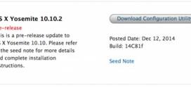 Apple rilascia OS X 10.10.2 beta 3 agli sviluppatori [download]