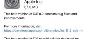 Apple rilascia iOS 8.2 beta 2 per iPhone, iPad ed iPod touch [link download]