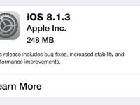 iOS 8.1.3 Apple
