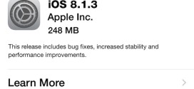 Apple rilascia iOS 8.1.3 per iPhone, iPad ed iPod touch [link download]