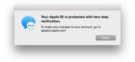 Apple aggiunge l'autenticazione a due passaggi per FaceTime e iMessage