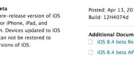 Apple rilascia iOS 8.4 beta 1 per iPhone, iPad ed iPod touch [link download]
