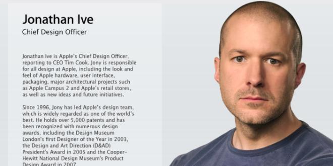 Jony Ive diventa ufficialmente Chief Design Officer di Apple