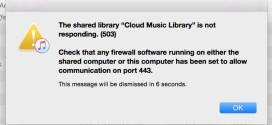 Apple Music: compare un errore 503 durante l'utilizzo