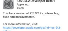Apple rilascia iOS 9.3.2 beta 1 per iPhone, iPad ed iPod touch [link download]